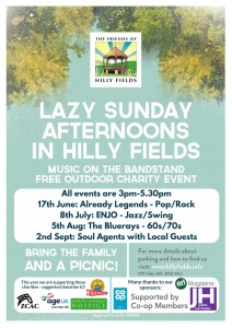 Hilly Fields 2018 poster